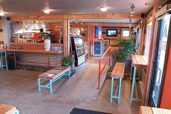 Base Camp Coffee Shop Interior